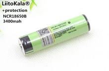 Liitokala new protected original for Panasonic rechargeable battery 18650 NCR18650B 3400mah with pcb 3.7v free shipping