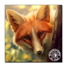 Moonzero DIY 5D бриллиантами Вышивка животных весна Fox Полный Круглый Вышивка с кристаллами Наборы Алмазная мозаика продажи Декор(China)