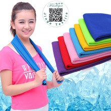 Hot Summer Sport Ice Towel 9 Colors 90*30cm Utility Enduring Instant Cooling Face Towel Heat Relief Reusable Chill Cool Towel(China)