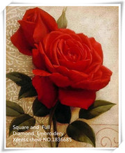 Red Roses,picture of Diamond mosaic craft kits for landscape,paintings rhinestones diamond pattern,DIY square diamond embroidery