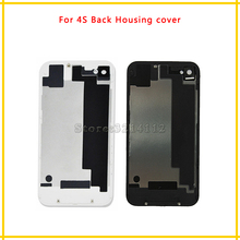 Replace parts Back Housing cover Battery Cover Rear Door Chassis Frame For iphone 4 4G 4S White Black Free shipping(China)