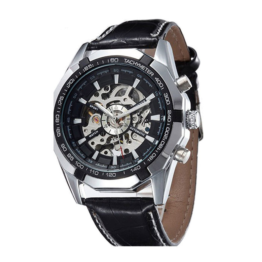 Hot Unique Automatic Mechanical Watch Men Hollow Retro Machinery Present Steel Table  Drop Shipping F15<br><br>Aliexpress