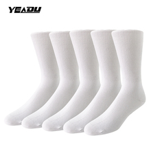 5 Pairs/Lot Professional Cotton Top Quality Diabetic Special Care Health Women&Men's Socks(China)