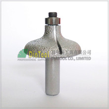"DIATOOL No.14 Vacuum Brazed Diamond Router Bits With 1/2"" Shank For Stone, Router Cutter For Granite & Marble"