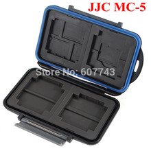 JJC MC-5 Waterproof Memory Storage Card Box Case Holder for 4 CF/2 Micro Secure Digital SD Memory Stick Pro Duo XD Picture Cards