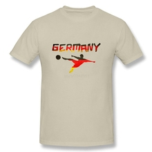 Interesting Germany Flag Soccer Patriotic Clothing Men Custom Short Sleeve O-neck Organic Cotton Guys Tees Shirt Plus Size