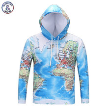 Mr.1991INC Cool Fashion Brand T-shirts Men/women 3d T-shirt Long Sleeve Hooded T shirts With Hat Print World Maps Hooded Tees(China)