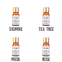 Famous brand oroaroma Pure Jasmine  tea tree  Musk  rose Essential Oils Pack For Aromatherapy, Massage,Spa, Bath 10ml*4