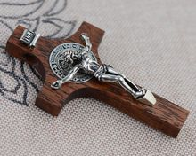 Cross Pendant S925 silver inlaid mahogany pendant pendant Unisex Jesus imported from Thailand