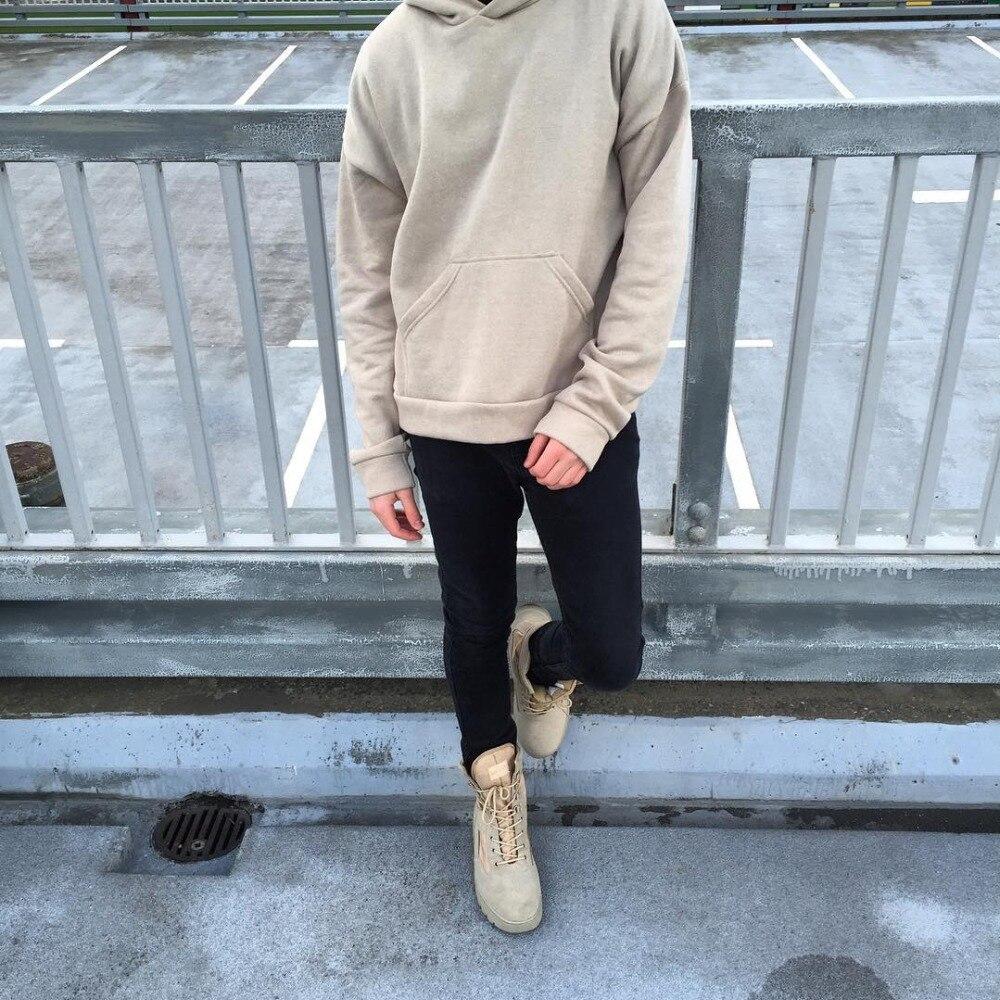 New Streetwear Pullovers Drake Kanye West Plain Fleece Oversized Hoodie Kpop Clothes Tracksuit Hoodies Men Hip Hop