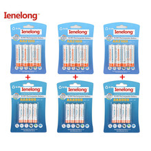 Ienelong  12Pcs/3card 1.2V 2100mAh AA Batteries+12Pcs/3card 900mAh AAA Batteries NI-MH AA/AAA Rechargeable Battery