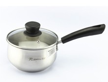 2014 new design stainless steel pot soup pot  can use induction and gas cooker 16cm