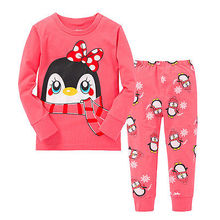 2pcs Baby Girl Kids Tops+Pants Sleepwear Nightwear Pajama Pyjama Pj's Outfits(China)