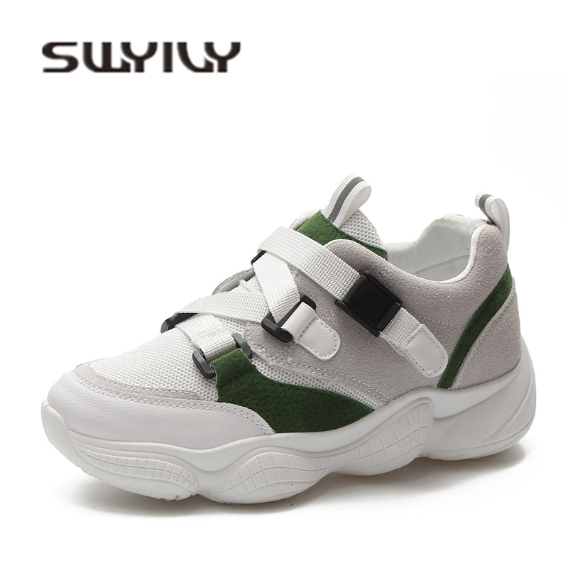 SWYIVY Woman Casual Sneakers Shoes Comfortable Autumn Fall New Female Canvas Shoes Belt Buckle Breathable Leisure Sneakers Flats