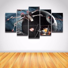 5 Panel Canvas Prints Art Hot Cuadros battleship 5 Pieces Painting Wall Art Printed Poster Canvas Home Decor(China)