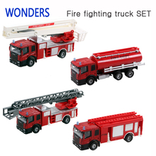 High quality Alloy simulation fire fighting truck Sets inertia model for children play game Save safe toy car for kids Hot sale