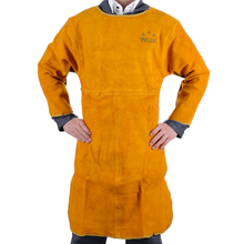 leather welder aprons welder's aprons long-sleeve barmskin aprons split cow leather welding aprons(China)