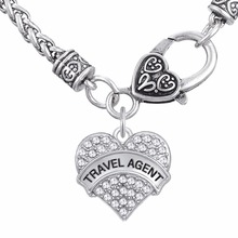 Lemegeton TRAVEL AGENT Necklaces  Jewelry Clear Crystal Heart Pendant Necklaces
