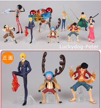 One Piece 1 Edition 9 pieces of Action Figure 1/10 scale painted figure Nami Luffy Chopper Doll PVC ACGN figure Toys Brinquedos(China)