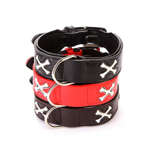 New Arrival Fashion Flash Plastic Pet Dog Collar Bone Type Dog Collar Luminous Cross LED Dog Leash Collar In All Season