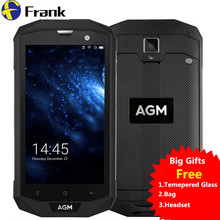 BigGifts Original AGM A8 Waterproof phone shockproof 4050 mAH 3/4G RAM 32/64G ROM 13.0MP 4G LTE Quad Android 7.0 IP68 SmartPhone