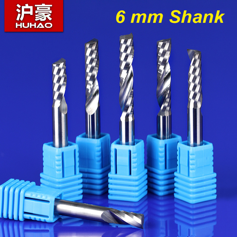 2Pcs SHANK 6mm CEL 42mm 1 Flute End Mill Cutter Spiral Bit CNC Router Tool MDF carving frezer 1LX642<br><br>Aliexpress