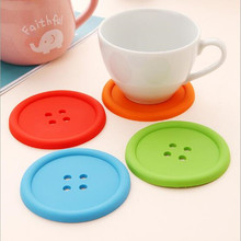 12 pcs/lot Silicone Dining Table Placemats Coaster Coffee Cups Drink Kitchen Accessories Mat Cup Bar Mug Placemats(China)