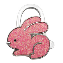 New Fashion Handbag Hook Rabbit Shaped Ladies Purse Tote Bag Holder Table Support Hanger Alloy Hook Home Supplies(China)