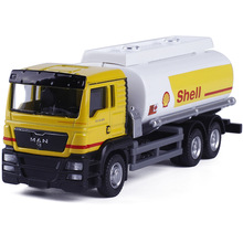 Alloy Car Model Mini Diecast Material Delicate Pull Back Toy Garbage Truck Watering Transport Vehicle Toys Gift(China)