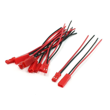 DSHA New Hot 5 Pairs 22AWG Cable 2Pin JST M F Plug for RC Battery Motor Connection