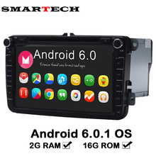 2G Ram VW Car Radio Stereo Android 6.0 RNS510 Radio For Golf Jetta Mk5 Mk6 Passat Tiguan polo Red Green Button Color VW 1024X600