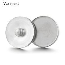 50pcs/100pcs/lot Vocheng Ginger Snap Stainless Steel Base 18mm DIY Jewelry Findings Fit 18mm/20mm Button Accessories NN-263