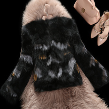 2016 Fashion Raccoon Dog Fur Coat Short Style Natural Real Fur Long Sleeve Winter Warm Vest Overcoats M-XXXL