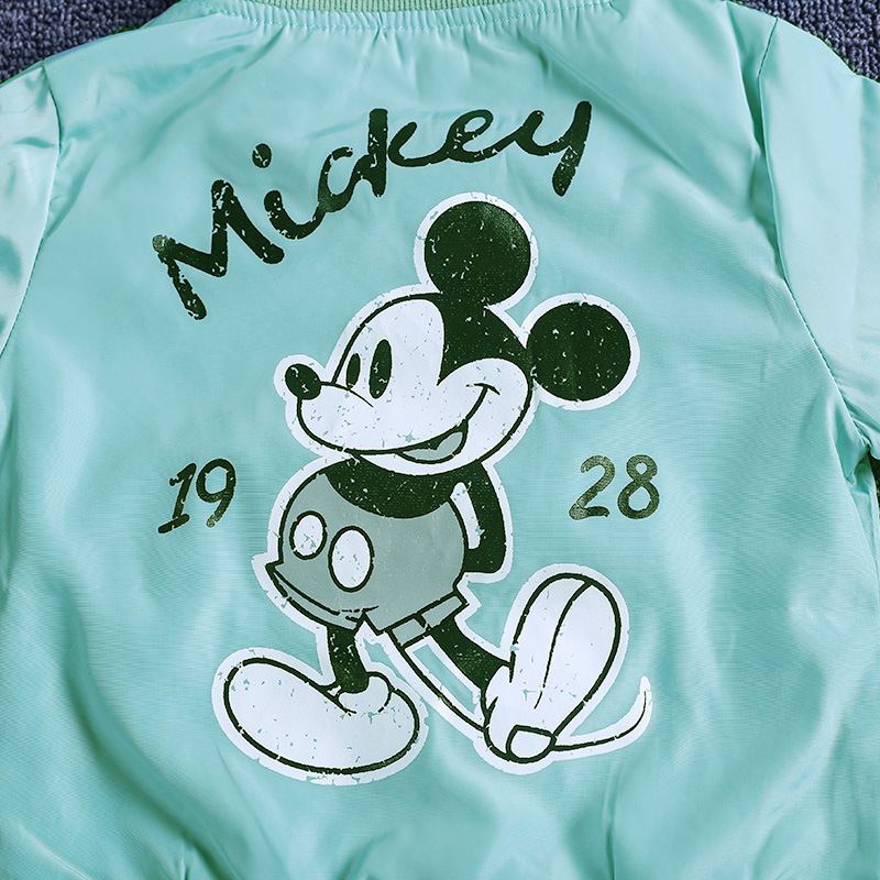 19 Mickey Denim Jacket For Boys Fashion Coats Children Clothing Autumn Baby Girls Clothes Outerwear Cartoon Jean Jackets Coat 26