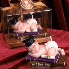 Baby with doctor hat smookless candle baby shower baptism birthday party favor children gift present baby boy girl christmas