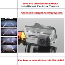 Car Rear Back Camera For Toyota Land Cruiser LC 200 LC200 2008 ~ 2014 / Rearview Parking Camera Dynamic Reverse Tragectory