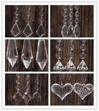 Buy 10pcs Acrylic Crystal Beads Garland Clear Diamond Strand Iridescent Wedding Party Home Chandelier Curtain Decoration for $5.29 in AliExpress store