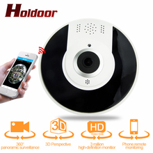 360 Camera IP 3MP Fish Eye Panoramic WIFI PTZ CCTV 3D VR Video IP Kamera Cam Micro SD Card Audio Remote Home Monitoring