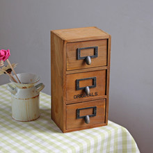 2016 New Home Decor Vintage Sundries Storage Boxes Wooden Organizer For Office Desktop Stationery Box Decorative Bedroom