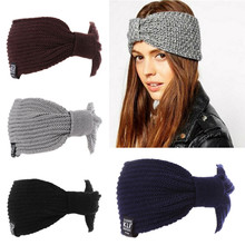Winter Headbands Womens Ear Warmer Crochet Turban Knit Wool Head Wrap Hairband Headband Headwear Female Hair Band Accessories 25