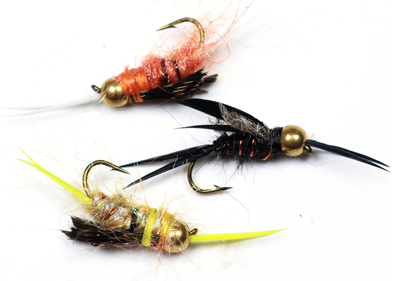 40 pcs Assortment Mix Czech Nymph Trout Fly Fishing Flies 14#
