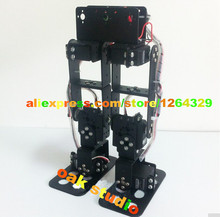 6 dof biped robot,walking robot,Aluminum alloy bracket,entry-level gaming robot, robot development, course project
