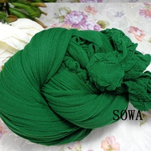 20 Pcs/lot Tensile Stocking Dark Green Color Flower Nylon Stocking Material Accessory Handmade DIY(China)