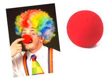 100PCS Funny Toys Red Sponge Foam Ball Clip Circus Clown Nose Comic Halloween Costume Party Magic Dress