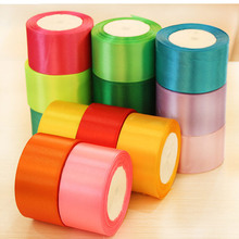 5cm wide ribbon / different color plastic ribbons / satin ribbon edging tape roll with a decorative belt DIY(China)