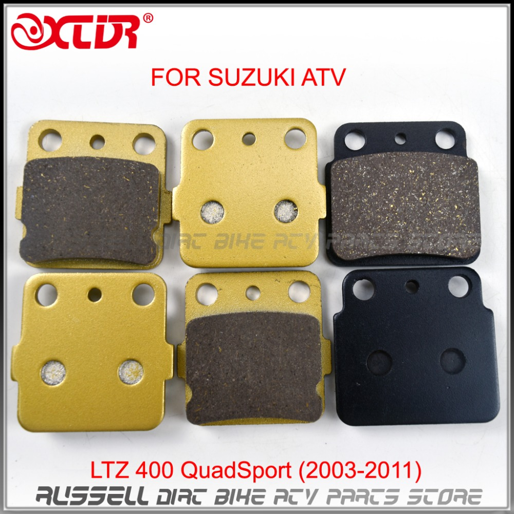 Motorcycle Brake Pads Set FRONT AND REAR For SUZUKI  ATV LTZ 400 QuadSport (2003-2011) LTZ400 LT-Z LT-Z400<br><br>Aliexpress