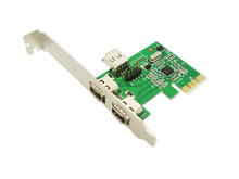IOCrest 2 Port External + 1 Port Internal IEEE 1394a Firewire PCI-Express Card  w/ Cable
