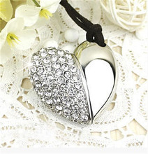 real capacity lovely jewellery Heart Gift diamond 2GB 4GB 8GB 16GB 32GB Flash 2.0 Memory Drive Stick Pen DD(China)