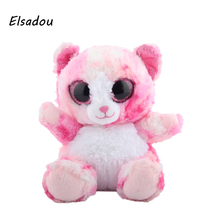 Elsadou Ty Beanie Boos Stuffed & Plush Animals Siting on Pink Bear Toy Doll(China)