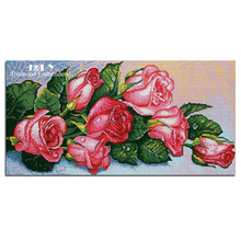 Cross stitch diamond painting red roses diamond embroidery flowers roses picture of flowers with rhinestones craft decoration